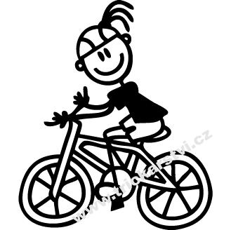 Tričko s obrázkem holčičky na kole empty da287a469c
