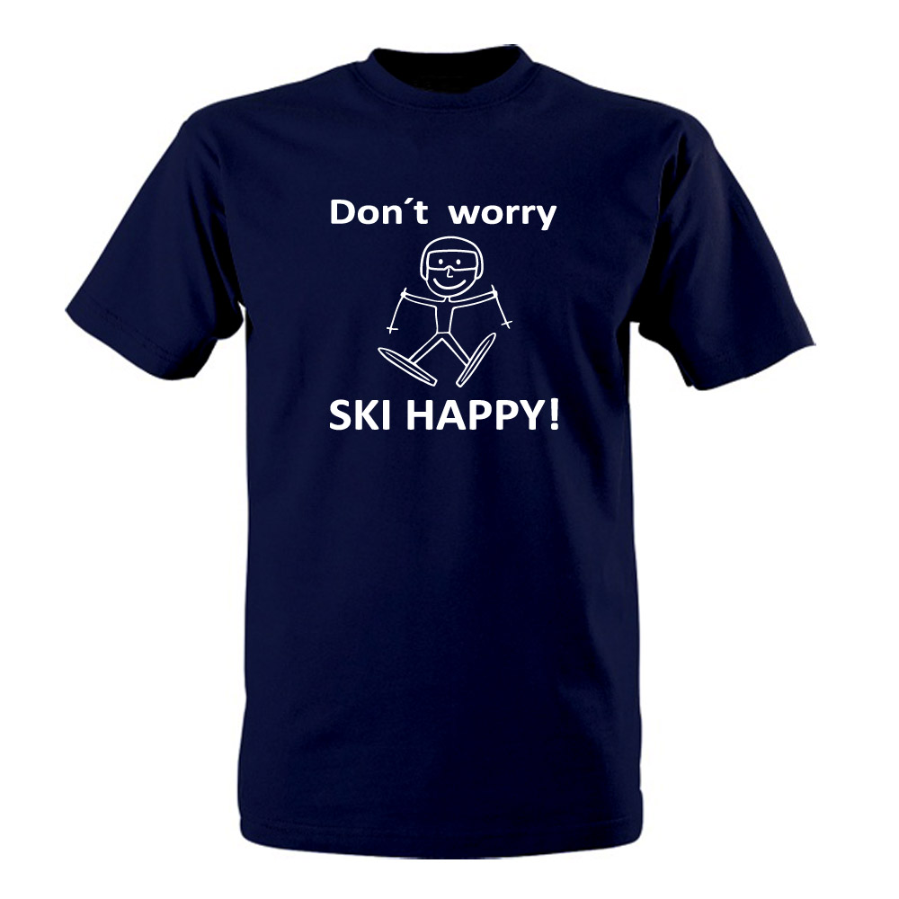 "Tričko ""Ski happy!"""
